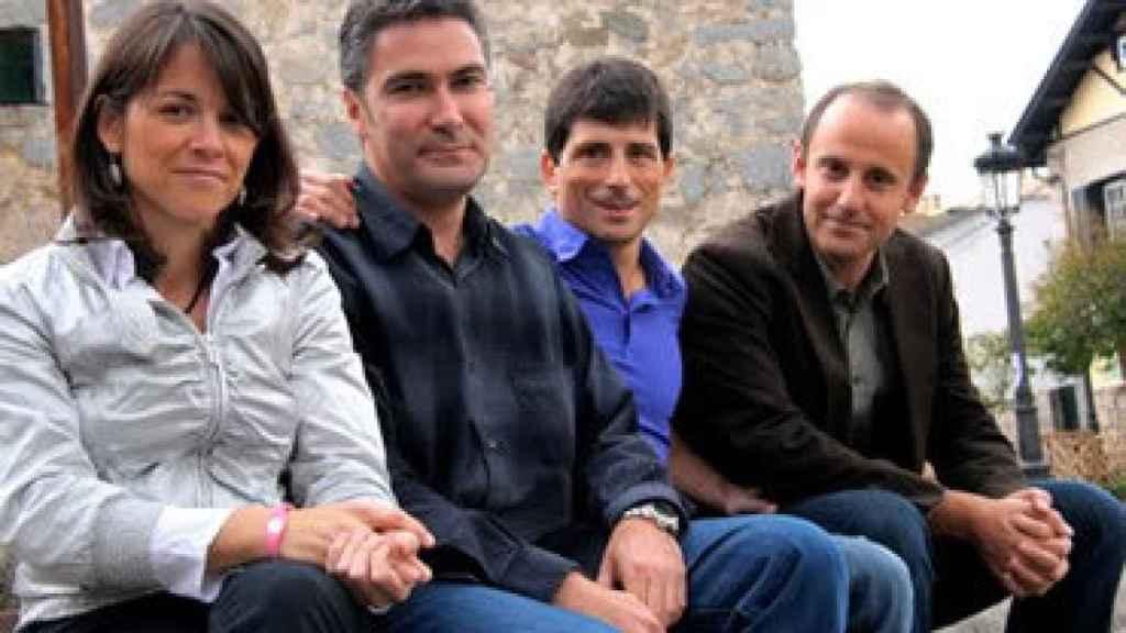 Los compañeros de candidatura de Cantó en 'Vecinos por Torrelodones': Elena Biurrun, Gonzalo Santamaría, Jesús Bartolomé y Santiago Fernández.