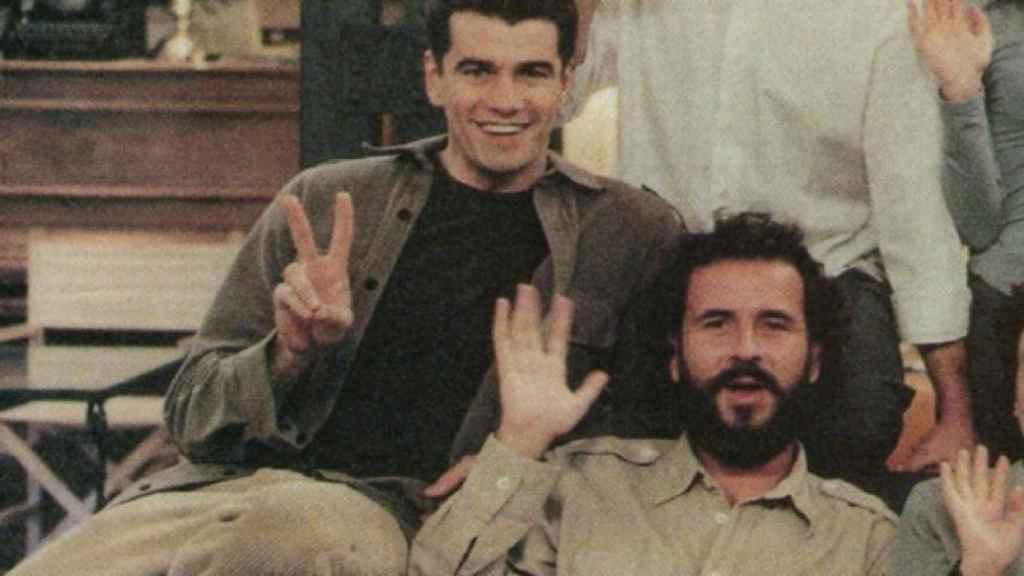 Toni Cantó y Willy Toledo, durante el rodaje de '7 Vidas'.