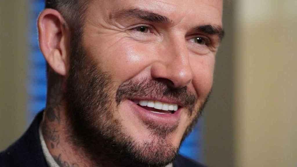 David Beckham sonriendo