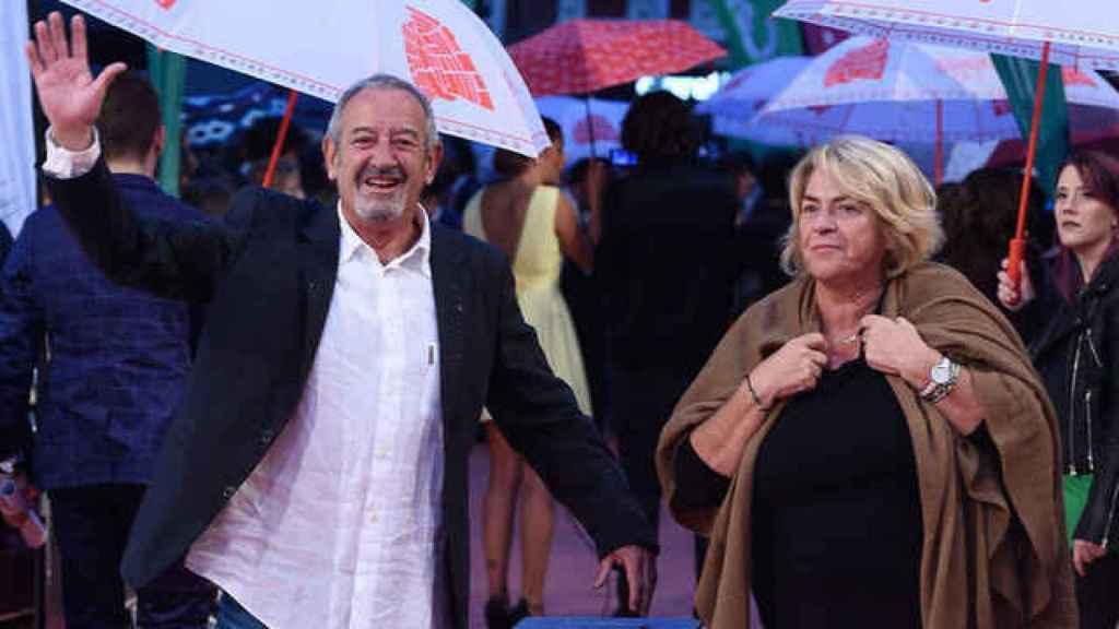 Arguiñano y su mujer, María Luisa Ameztoy, durante un evento