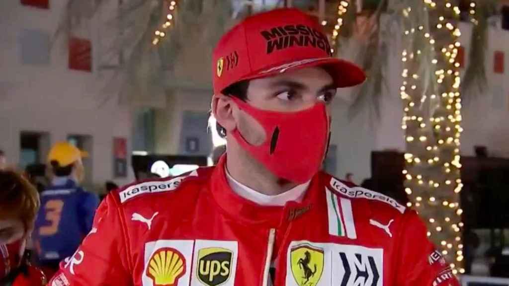 Carlos Sainz en el GP de Bahrein