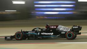 Lewis Hamilton, en los libres del Gran Premio de Baréin