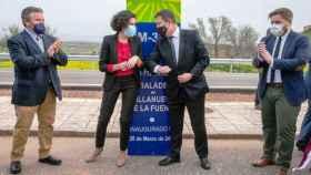 Emiliano García-Page ha inaugurado este viernes la remodelación de la carretera entre Albaladejo y Villanueva de la Fuente, en la provincia de Ciudad Real