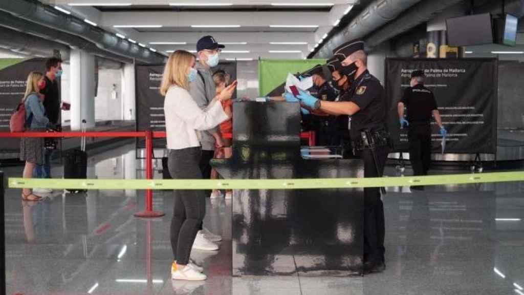 Llegada de turistas a España.