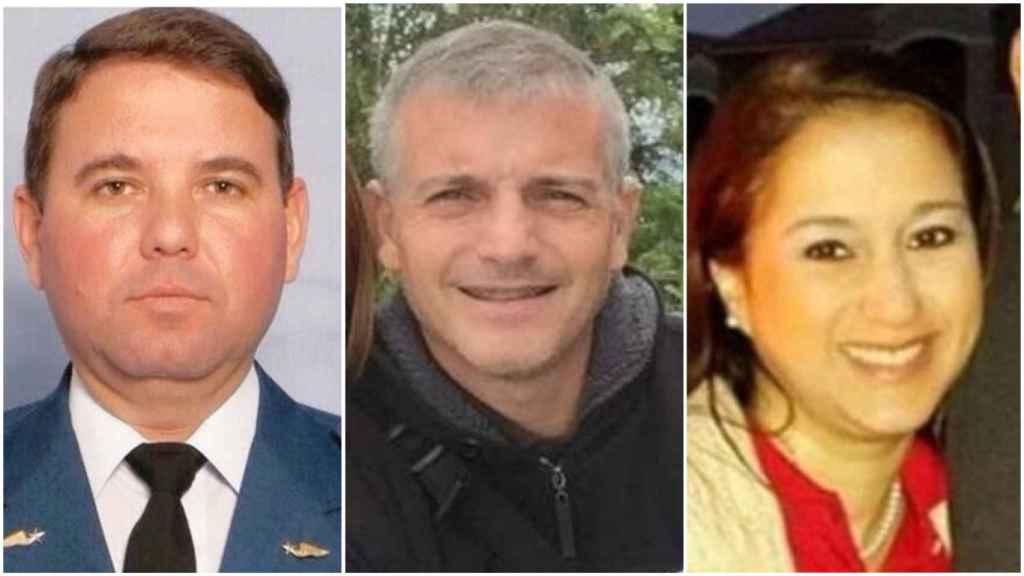 Los tres presos políticos españoles en Venezuela: Ruperto Sánchez, Jorge Alayeto y María Auxiliadora Delgado.