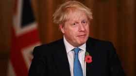 Boris Johnson, durante una reunión por el coronavirus, en Londres.