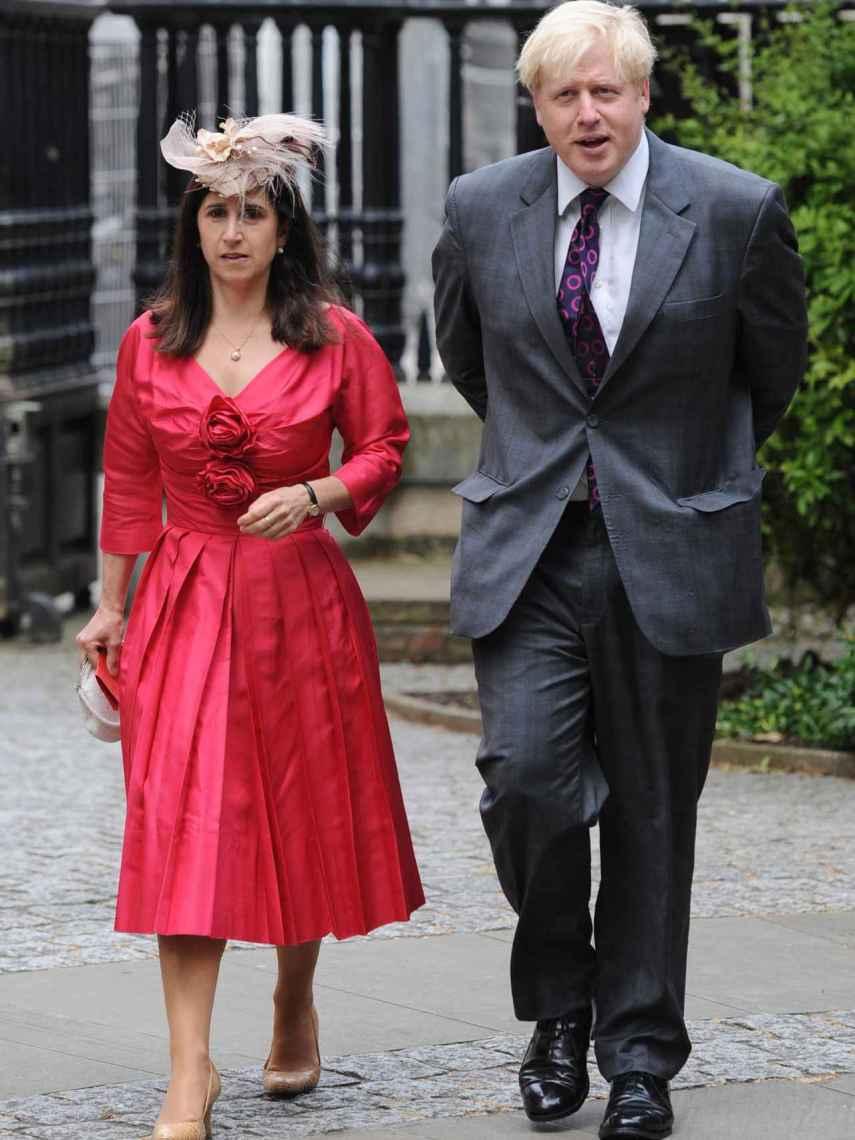 Boris Johnson y Marina Wheeler, durante un evento en Londres en 2012.