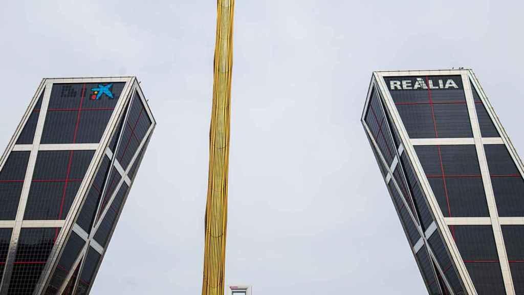 Así luce la nueva CaixaBank en las antiguas sedes de Bankia en Madrid y Valencia