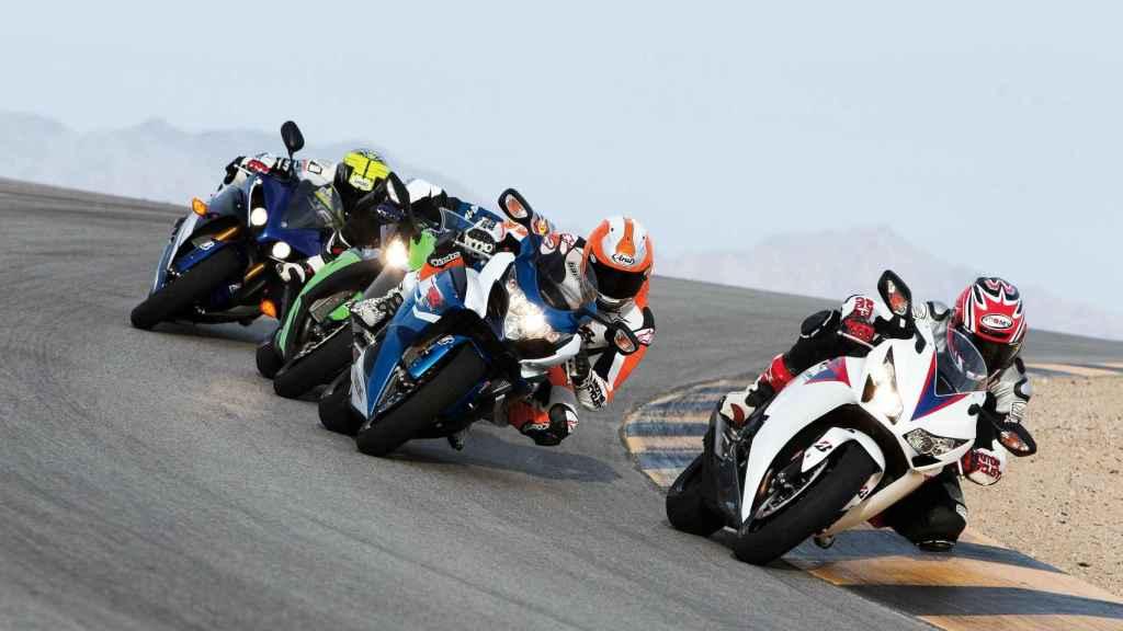 Una carrera de motos.