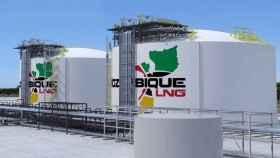 Imagen de cómo serían las instalaciones del Proyecto LNG de Total en Mozambique.