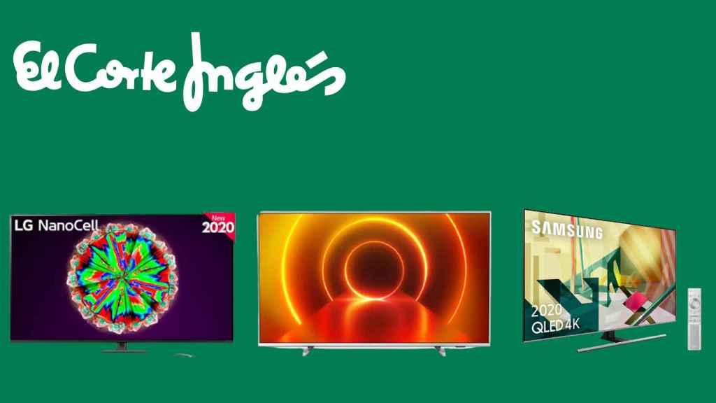 Televisores en oferta en el Corte Inglés.