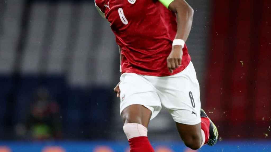 David Alaba, con la selección de Austria