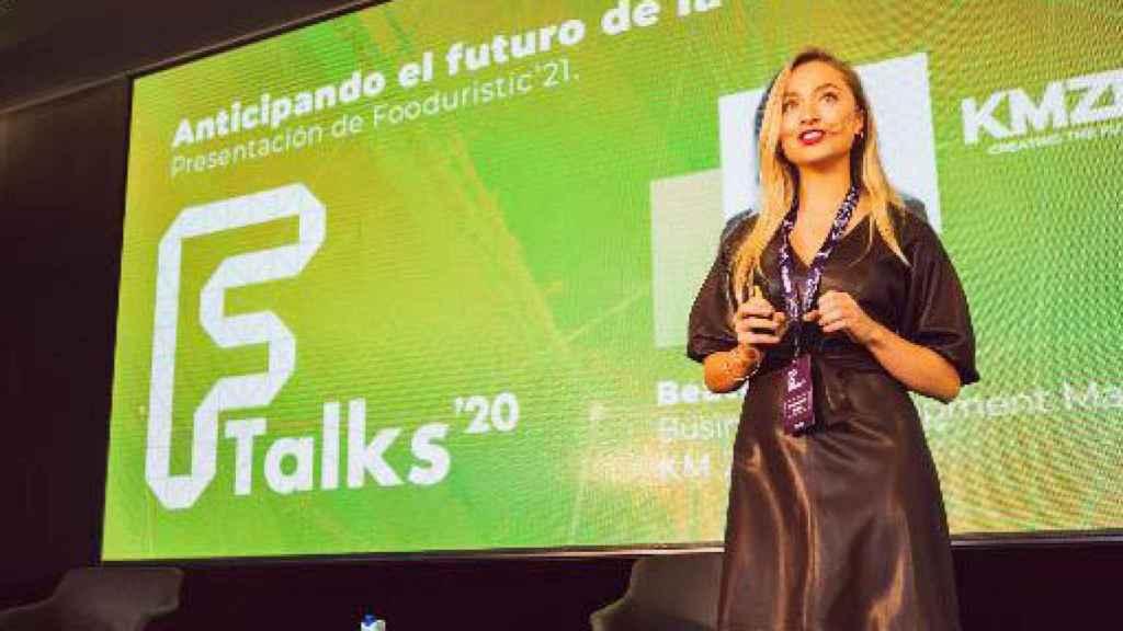 Beatriz Jacoste, directora de KM Zero Food Innovation Hub, en uno de sus eventos.