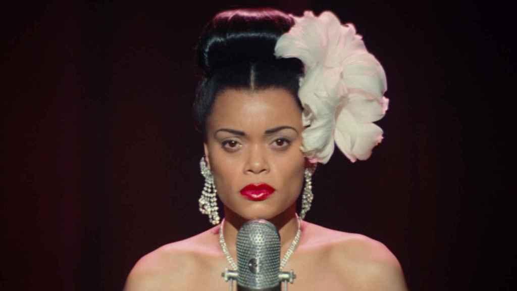 Andra Day como Billie Holiday en la película.