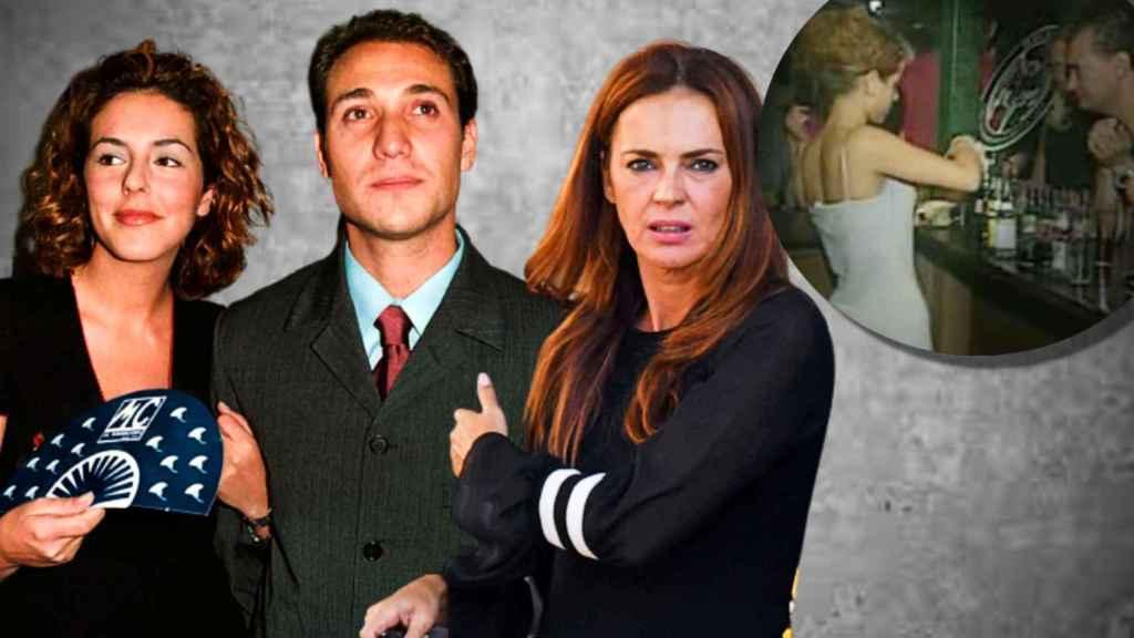 Rocío Carrasco y Olga Moreno junto a Antonio David Flores, en un montaje de Jaleos.