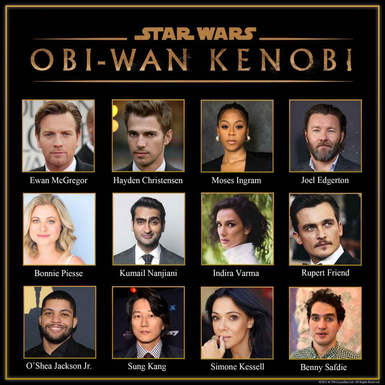 Reparto de 'Obi-Wan Kenobi'.