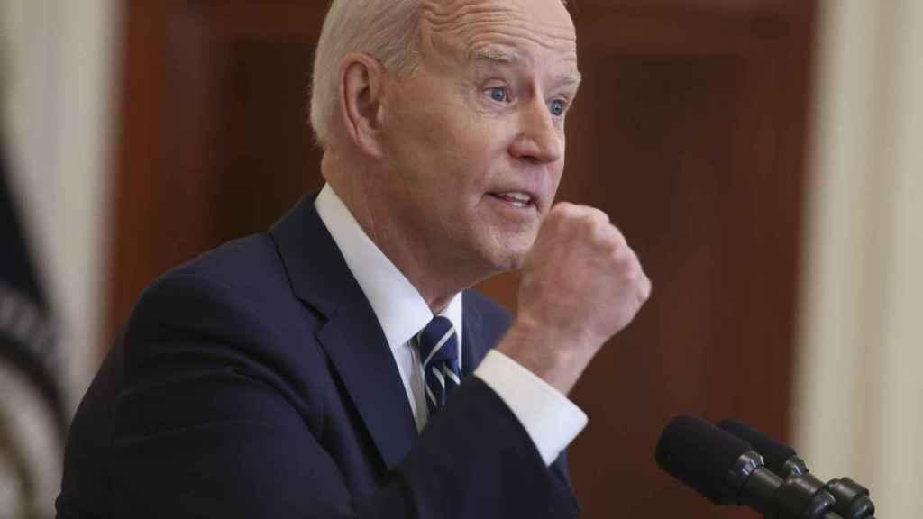 El presidente de Estados Unidos, Joe Biden,  en una rueda de prensa.