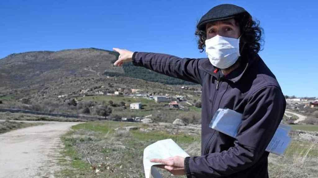 El arqueólogo Iván Aguilera, director del proyecto del yacimiento Canto-Los Hierros en la localidad segoviana de El Espinar.
