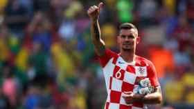 Dejan Lovren con Croacia