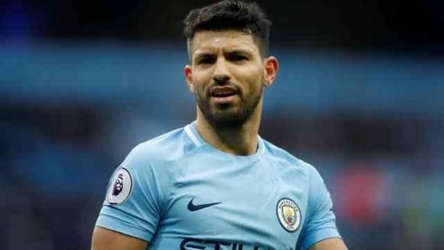 Sergio 'Kun' Agüero, en un partido del Manchester City