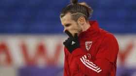 Gareth Bale, antes de un partido con Gales