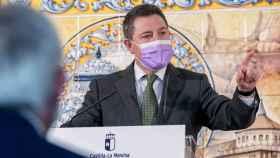 Emiliano García-Page este lunes en Talavera de la Reina (Toledo)