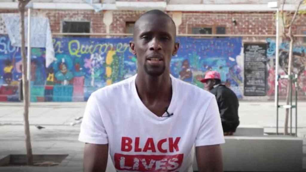 Serigne Mbayé, portavoz del Sindicato de Manteros y última incorporación a la candidatura de Pablo Iglesias a la Comunidad de Madrid.