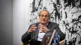 El ex 'president' de la Generalitat, Quim Torra, presenta su libro 'Les hores greus' en la Librería Ona (Barcelona).