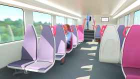 Imagen de uno de los trenes de alta capacidad que fabricará Alstom.