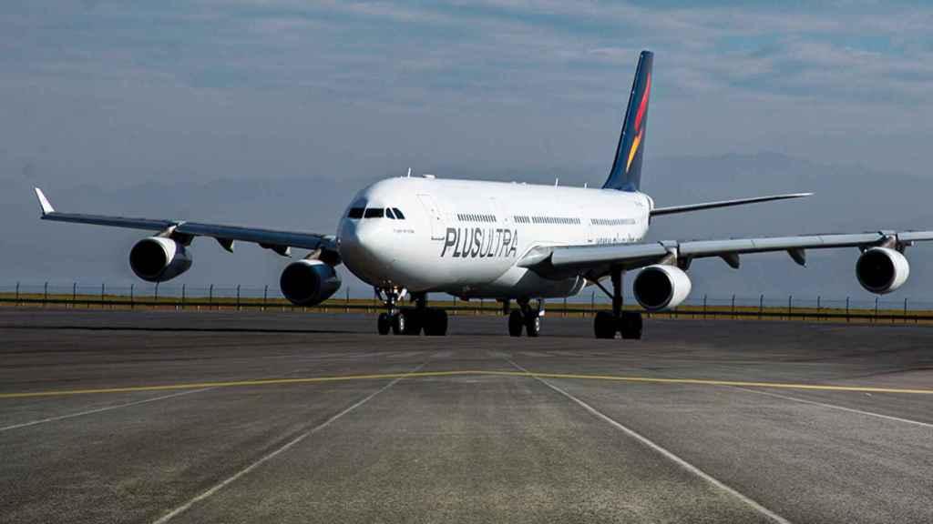 imagen de un avión de Plus Ultra Líneas Aéreas.