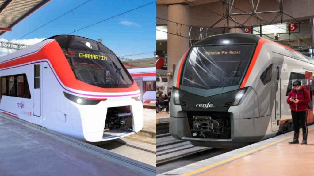 Recreación de los nuevos Cercanías de Alstom y Stadler.