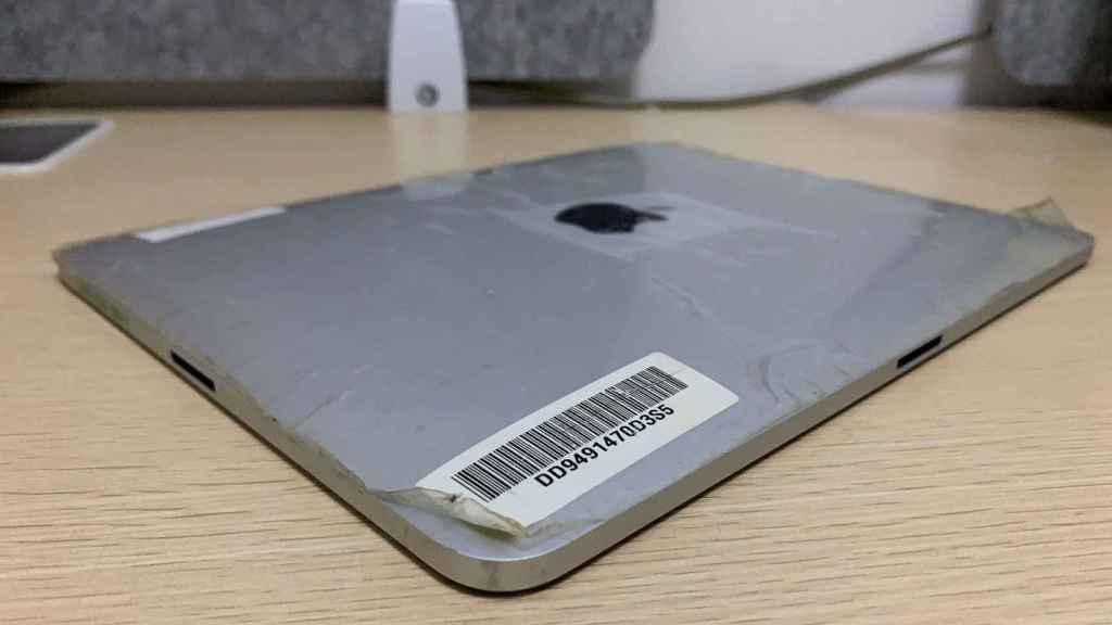 Prototipo de iPad con dos puertos