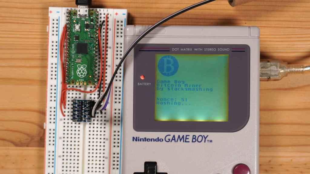 Game Boy minando criptomonedas