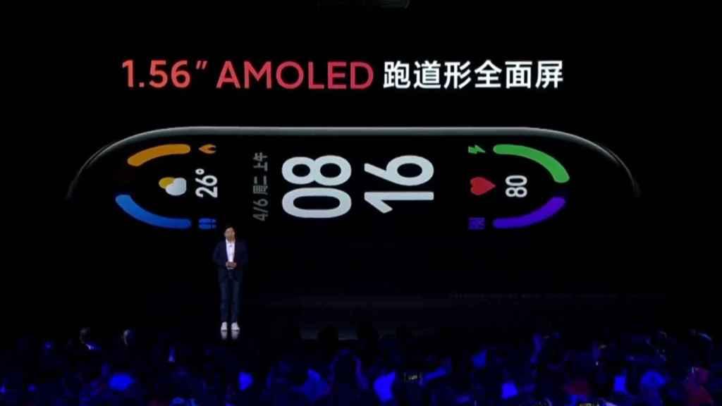 La Xiaomi Mi Band 6 tiene una pantalla más grande.