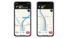 Radares de tráfico en la app de mapas de Apple.