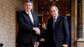 El expresidente de la Generalidad, Quim Torra, y el presidente de Flandes, Jean Jambon.