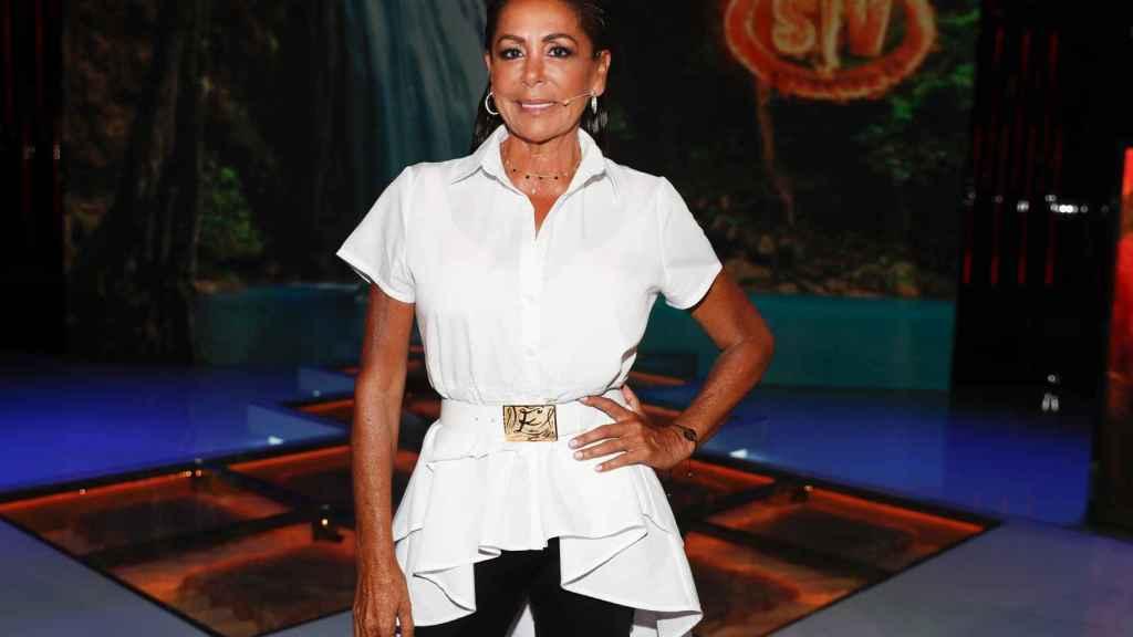 Isabel Pantoja en el plató de 'Supervivientes' en julio de 2019.