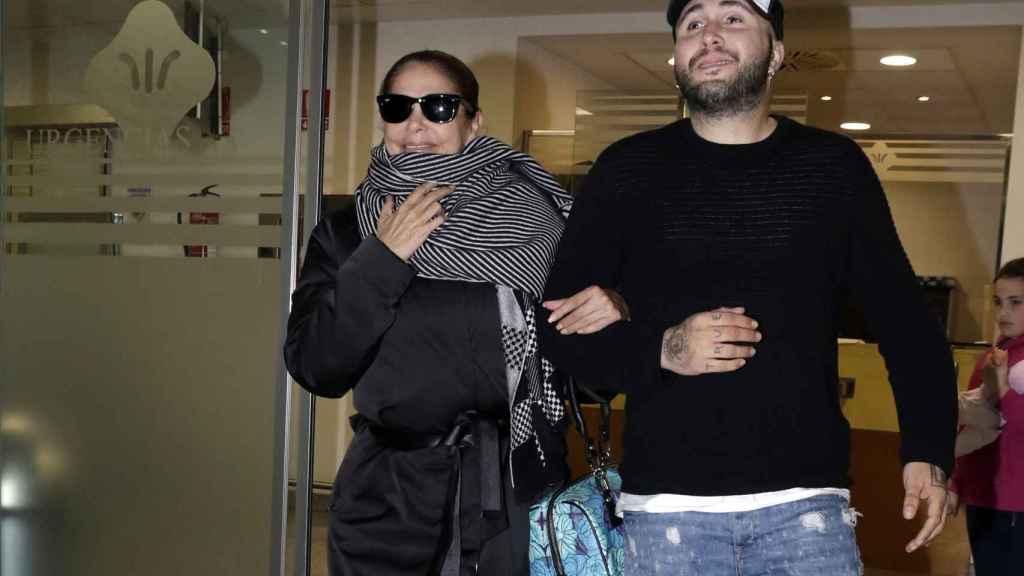 La cantante junto a su hijo Kiko en una imagen fechada en enero de 2018.