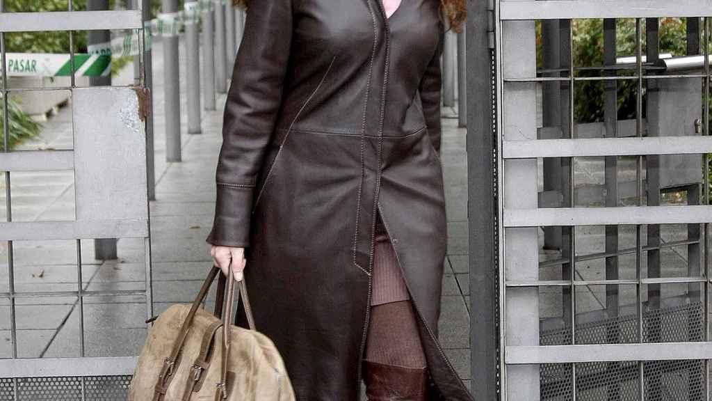 Rocío Carrasco durante una de sus visitas a los juzgados en 2010.