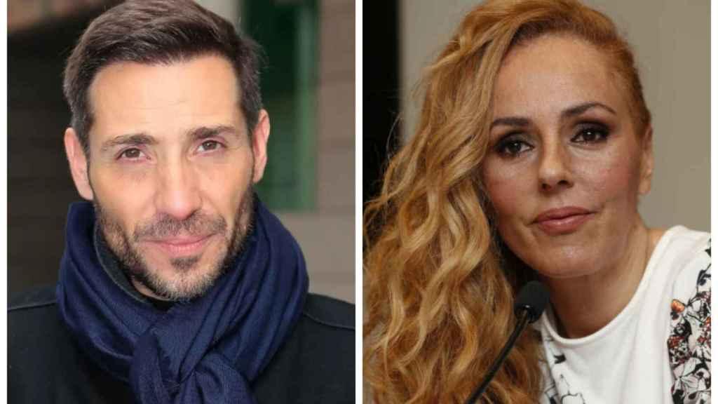Antonio David Flores y Rocío Carrasco, en un combo.