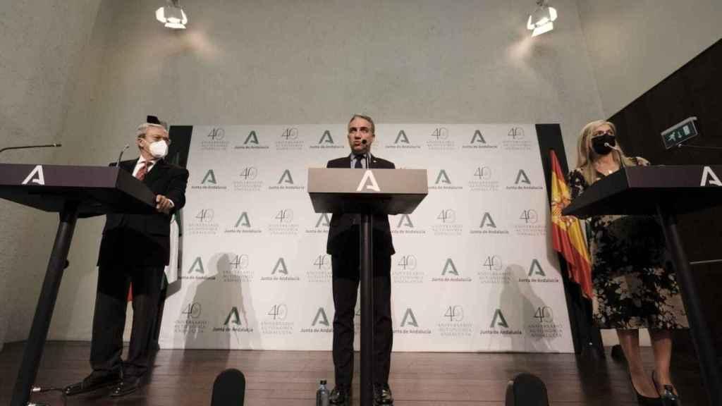 Rueda de prensa posterior al Consejo de Gobierno de la Junta de Andalucía.