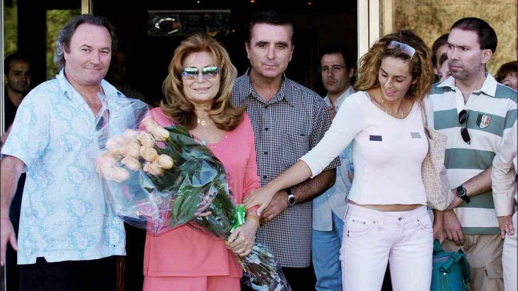 Amador, Rocío Jurado, Ortega Cano y Rocío Carrasco en una imagen en agosto de 2004.