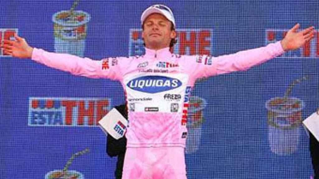Danilo Di Luca, durante un Giro de Italia