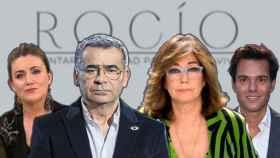 Carlota Corredera, Jorge Javier Vázquez, Ana Rosa Quintana y Antonio Rossi en montaje de BLUPER.