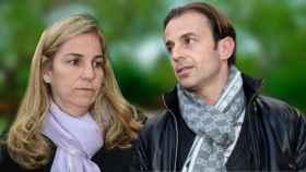 Josep Santacana y Arantxa Sánchez Vicario en un montaje de JALEOS.