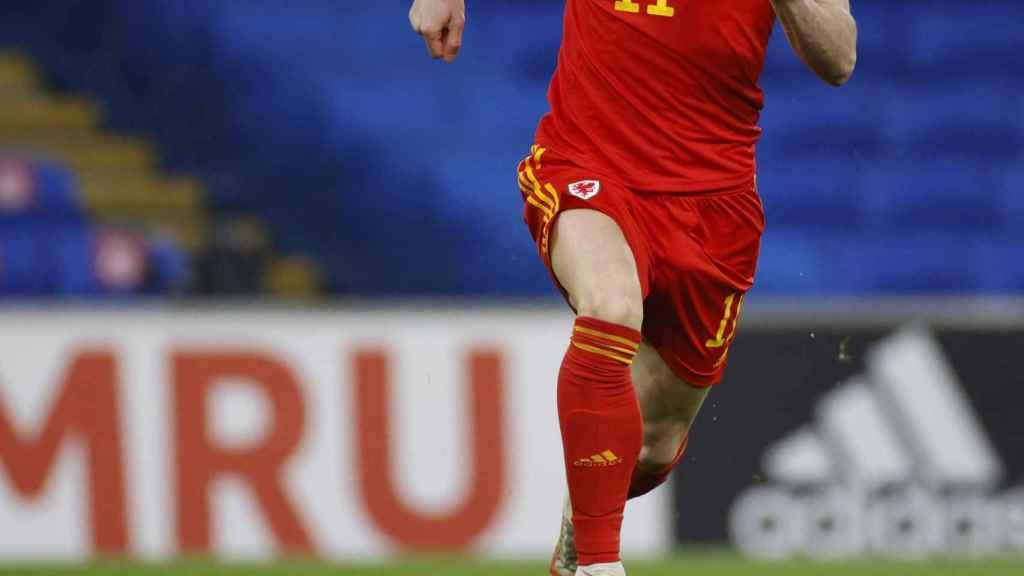 Gareth Bale, en un partido de la selección de Gales