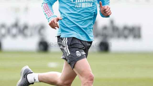 Fede Valverde, durante un entrenamiento del Real Madrid