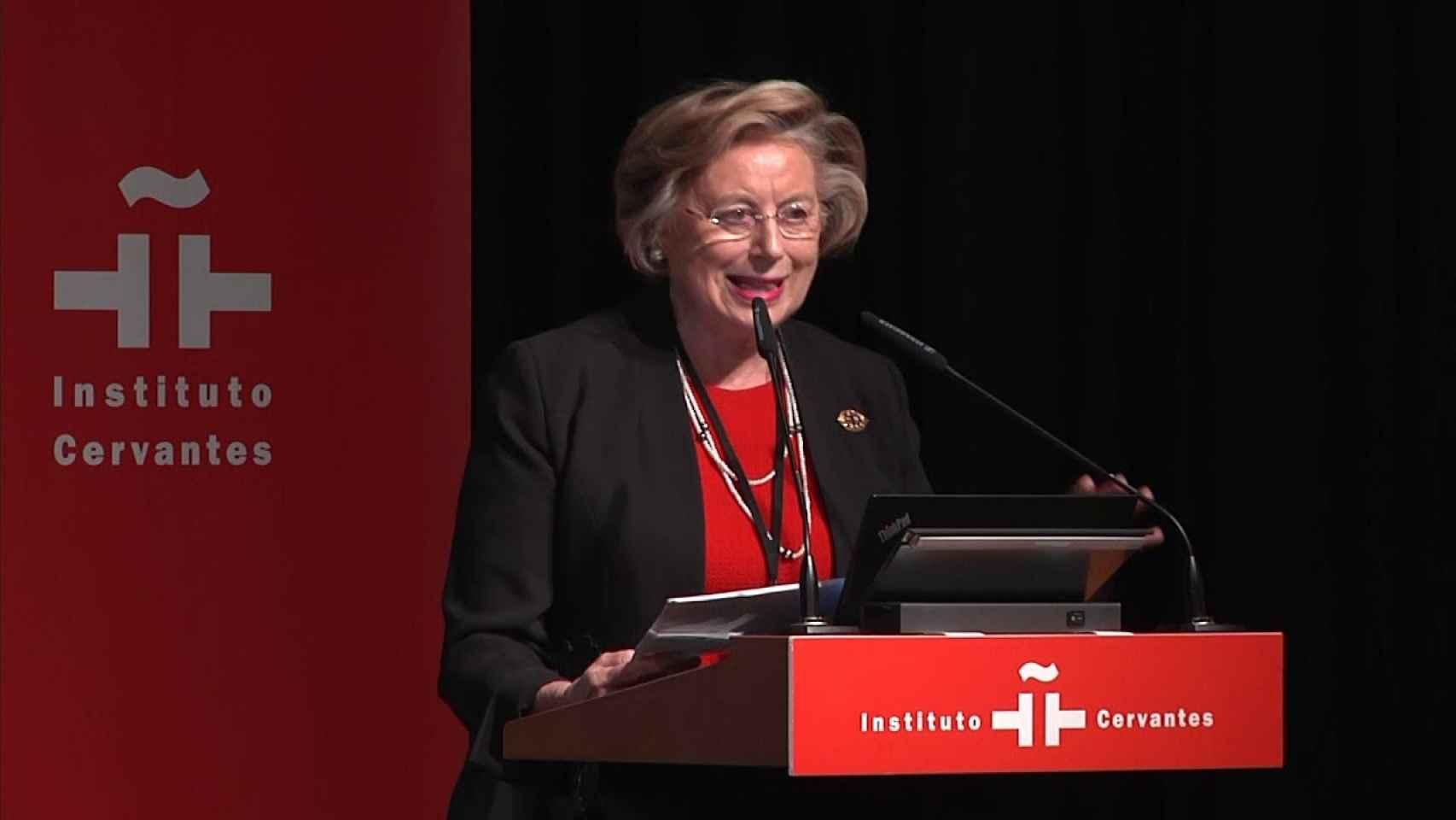 Josefina Cuesta, en un acto sobre exilio femenino en el Instituto Cervantes.