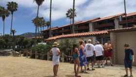 Baños unisex en La Jolla Shores.