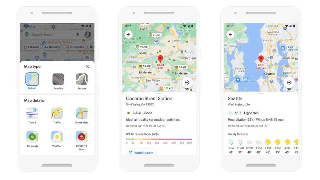 Google Maps y la calidad del aire.